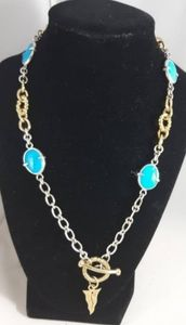 Barry Brinker 950 Silver Heavy Magnesite Necklace